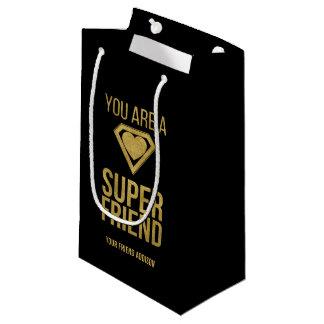 Gold Superhero Friend Valentine Gift Bag
