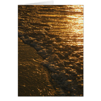Gold Surf Greeting Card