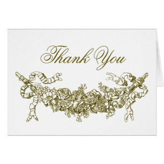 Gold Swag Romantic Thank You Note Cards