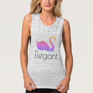 Gold Swan / Elegant Tank Top
