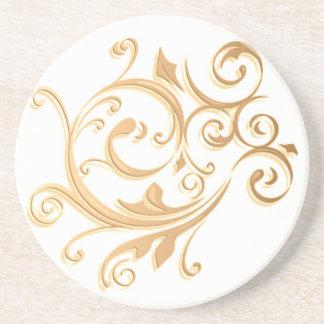 Gold Swirl Coaster