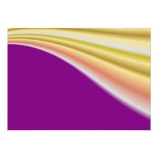 Gold swirl on purple background invite