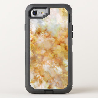 Gold Swirled Marble OtterBox Defender iPhone 7 Case