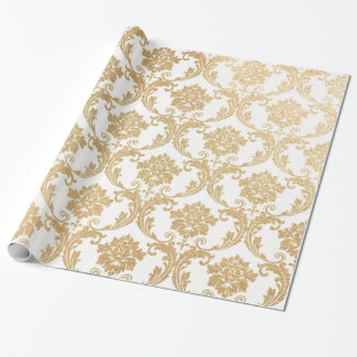Gold swirls damask
