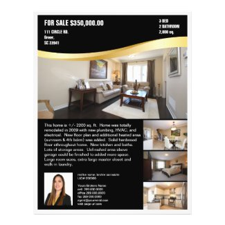 Gold Swoos Realtor Flyer