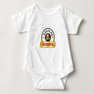 gold tab galileo baby bodysuit