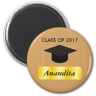 Gold Tag Graduation 2 Inch Round Magnet