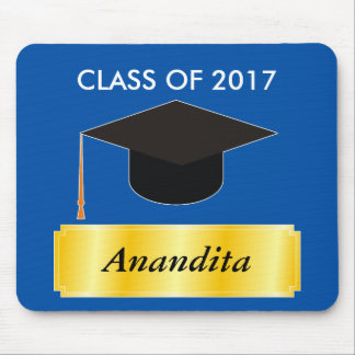 Gold Tag Graduation Mouse Pad