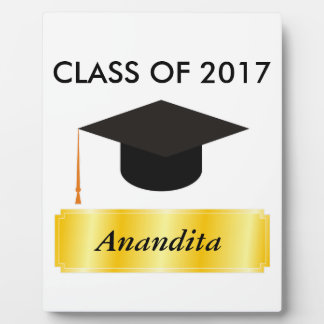Gold Tag Graduation Plaque