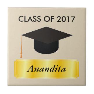Gold Tag Graduation Tile