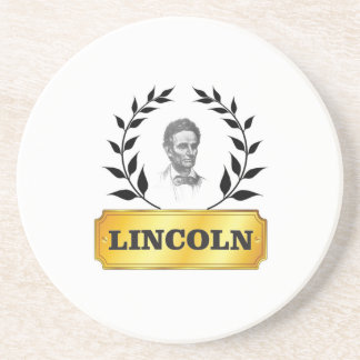gold tag lincoln beverage coaster