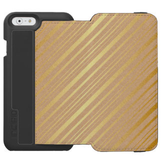 Gold & Taupe Stripes Distressed Case Incipio Watson™ iPhone 6 Wallet Case
