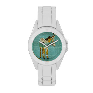 Gold &Teal Donkey Watch