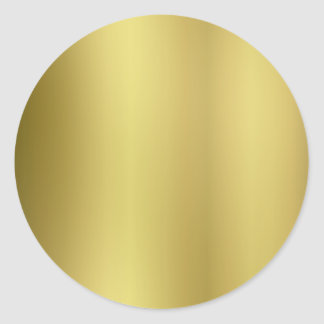 Gold Template Back Customize Classic Round Sticker