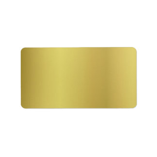 Gold Template Back Customize Label