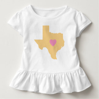 Gold Texas State with Pink Heart T-Shirt