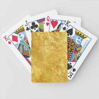 Gold texture bicycle playing cards