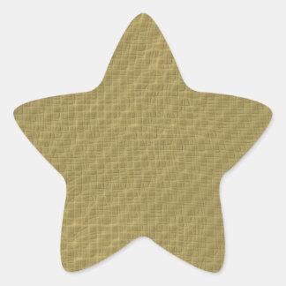 Gold Texture Star Sticker