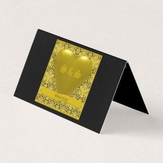 Gold Theme Escort Card