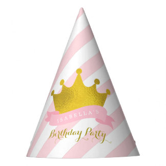 Gold Tiara Princess Birthday Party Hat