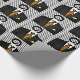 Gold Tie Black Wedding Tux for Groomsman Wrapping Paper