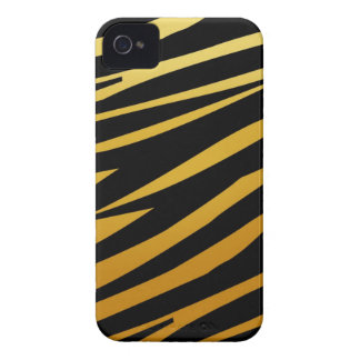 Gold Tiger Stripes Pattern iPhone 4 Case-Mate Case-Mate iPhone 4 Cases