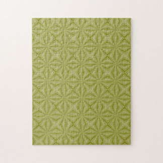 Gold Tinfoil Squiggly Squares Jigsaw Puzzle