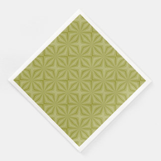 Gold Tinfoil Squiggly Squares Paper Dinner Napkin