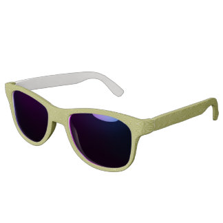 Gold Tinfoil Squiggly Squares Sunglasses