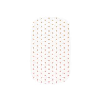 Gold to pink gradient polka dots  Minx® nail art
