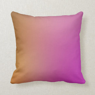 Gold to Pink Ombre Pillow