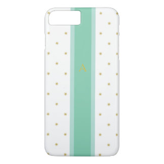 Gold Tone Star and Green Stripe iPhone 7 Plus Case