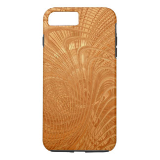 Gold Toned Abstract Curves Design iPhone 7 Case