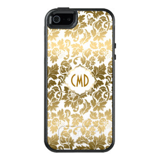 Gold Tones Floral Damasks OtterBox iPhone 5/5s/SE Case