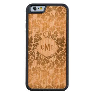 Gold Tones Floral Damasks Over White Background Cherry iPhone 6 Bumper Case