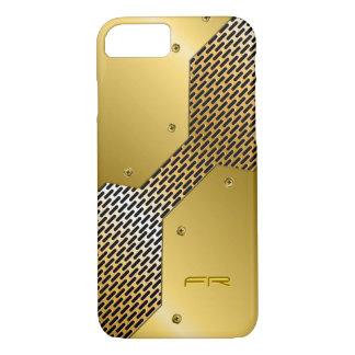Gold Tones Metallic Look Geometric Pattern. iPhone 7 Case