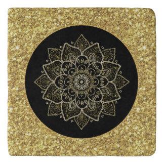 Gold Tones Ornate Madala Trivet