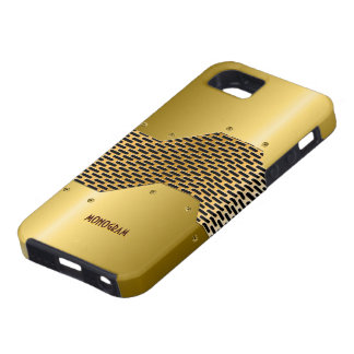 Gold Tones Shiny Metallic Look Pattern Customized Case For The iPhone 5