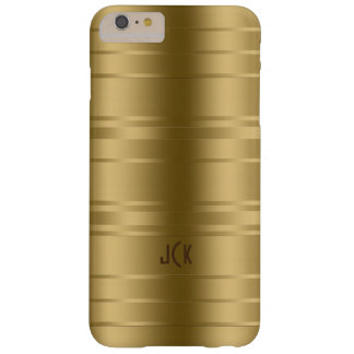 Gold Tones Stripes Modern Design Barely There iPhone 6 Plus Case