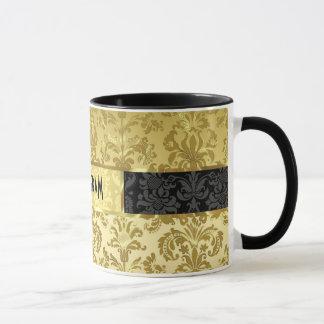 Gold Tones Vintage Floral Damasks 2 Customized Mug