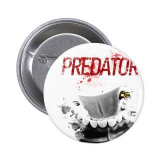 Gold Tooth Predator 2 Inch Round Button