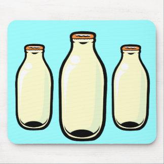Gold top Milk Bottles Mouse Pad