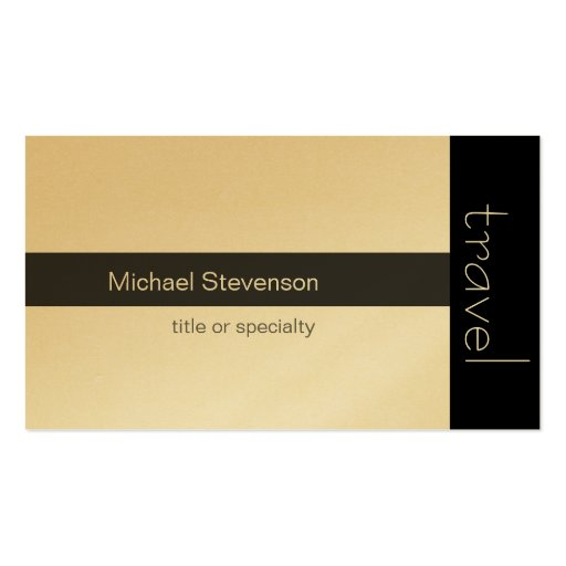 Gold Travel Agent Business Card