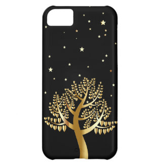 Gold Tree Cover For iPhone 5C