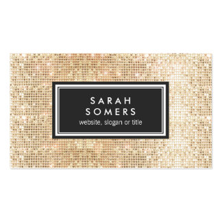 Gold Trendy Fun  FAUX Sequin Beauty Salon Pack Of Standard Business Cards