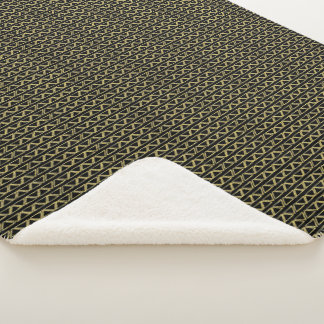 Gold Triangle Abstract Modern Random Pattern Sherpa Blanket