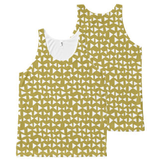 Gold Triangle Mustard Yellow Olive / Andrea Lauren