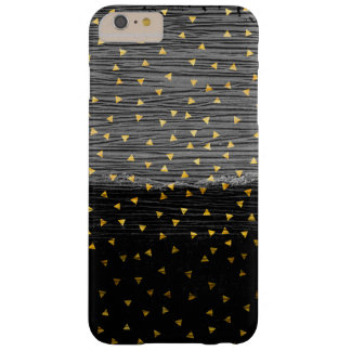 Gold Triangles on Black and Gray Barely There iPhone 6 Plus Case