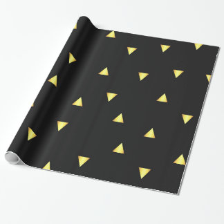 Gold Triangles Wrapping Paper