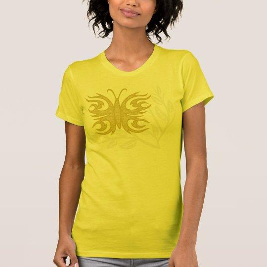 "Gold Tribal ""Butterfly"" T-Shirt"